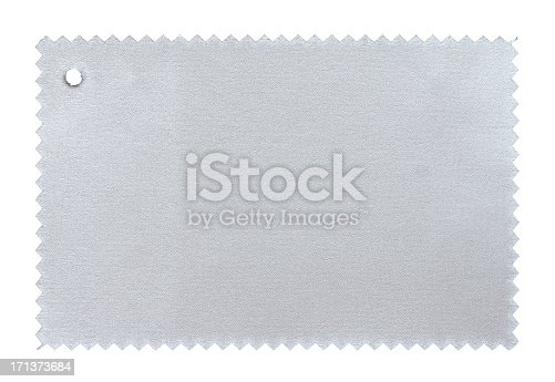 istock Silver Fabric Swatch textured background 171373684