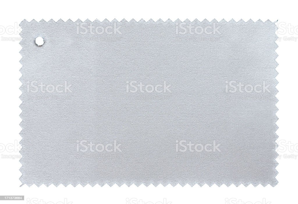 Silver Fabric Swatch textured background stock photo
