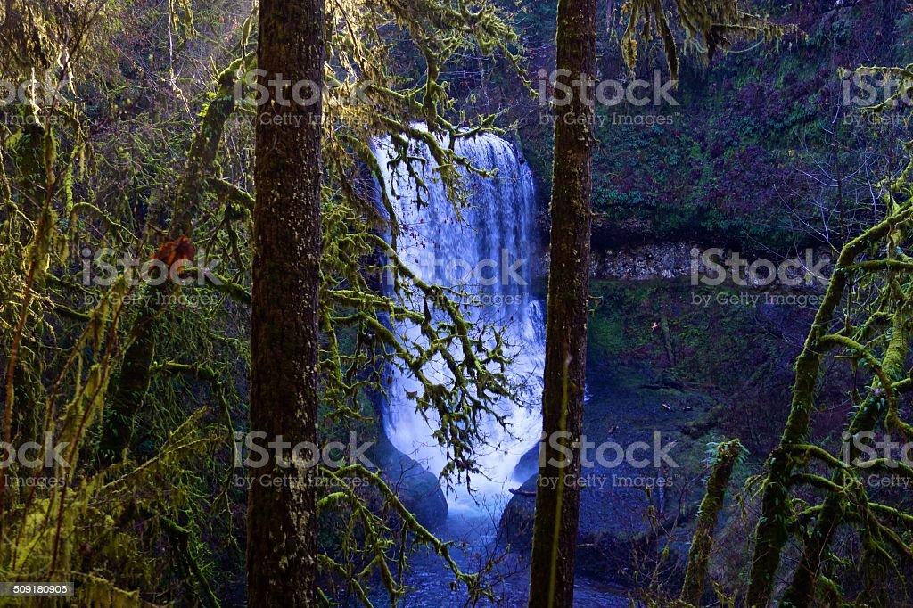 Silver Falls Canyon stock photo