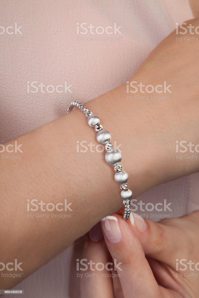 Silver Fashion Bracelet Jewellery Photography zbiór zdjęć royalty-free