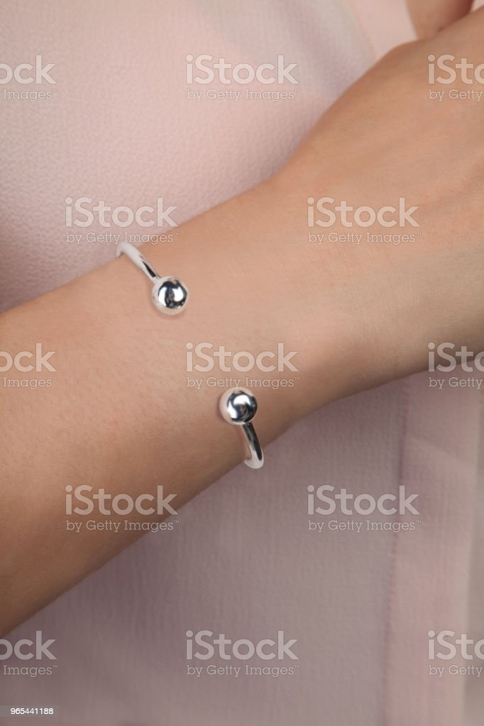 Silver Fashion Jewellery Punk Style for Women royalty-free stock photo