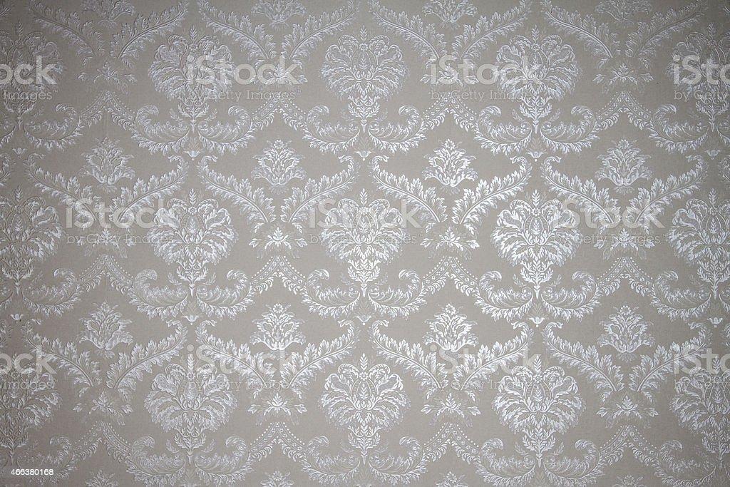 Brocado ornamento floral prata padrão de tecido - foto de acervo