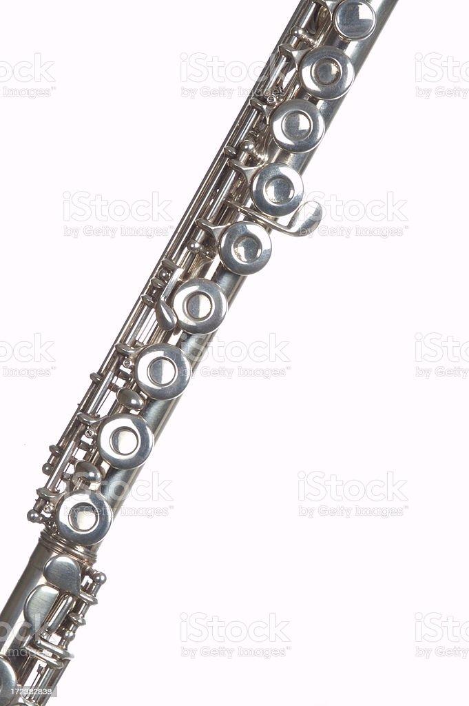Silver Flute stock photo