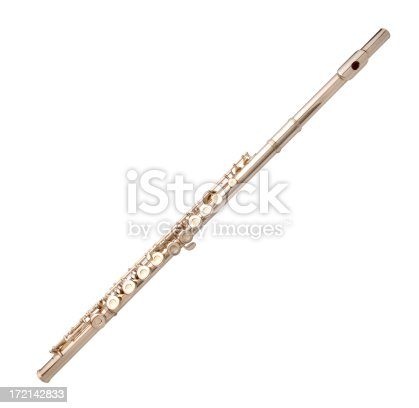 Flute on white background.