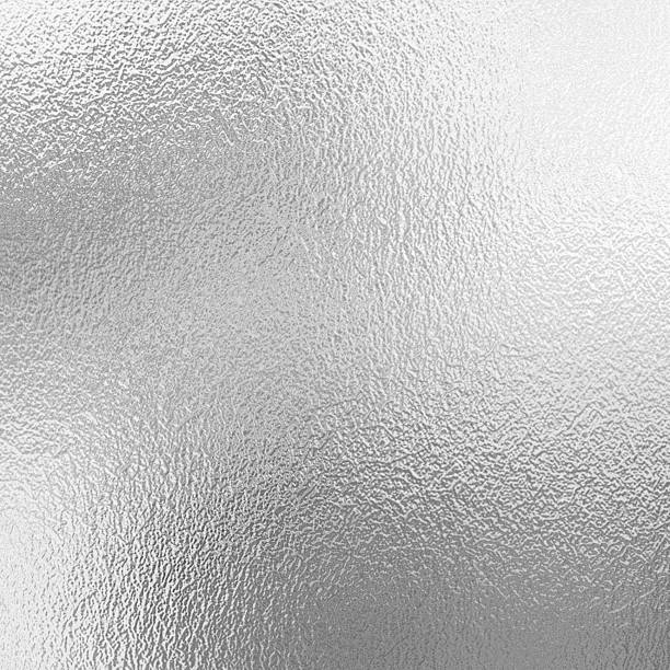 Silver foil background stock photo