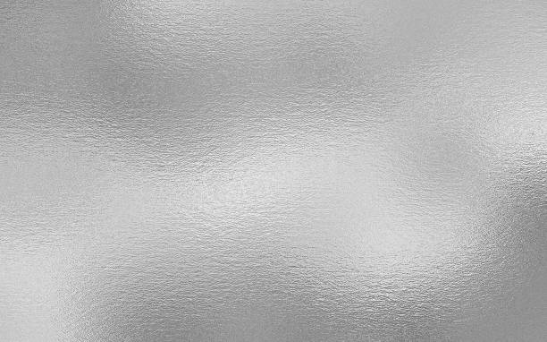 Silver foil decorative texture background stock photo