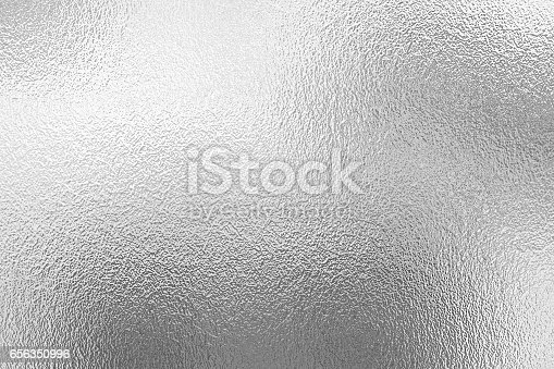 Shiny metal silver foil texture for background