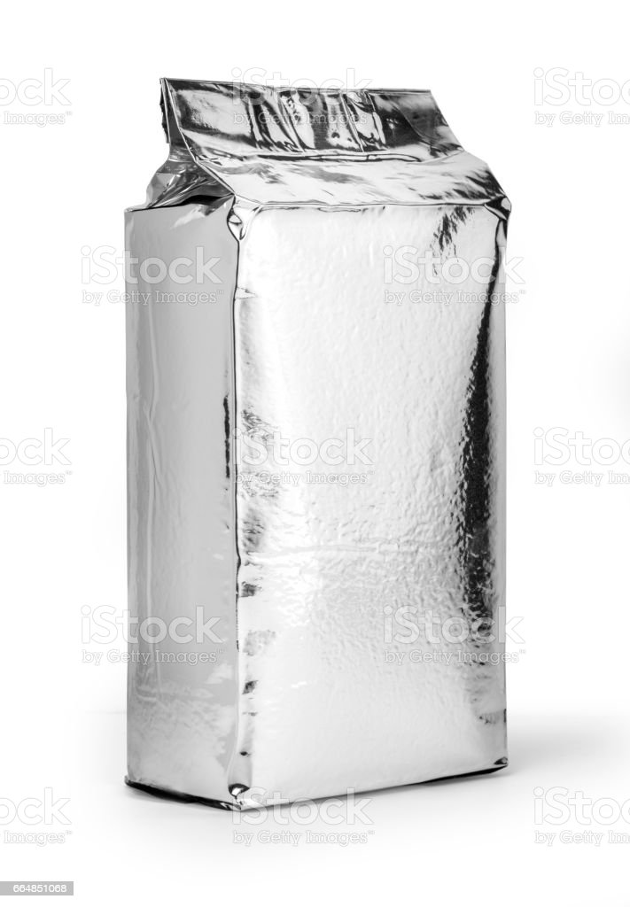 silver food package - foto stock