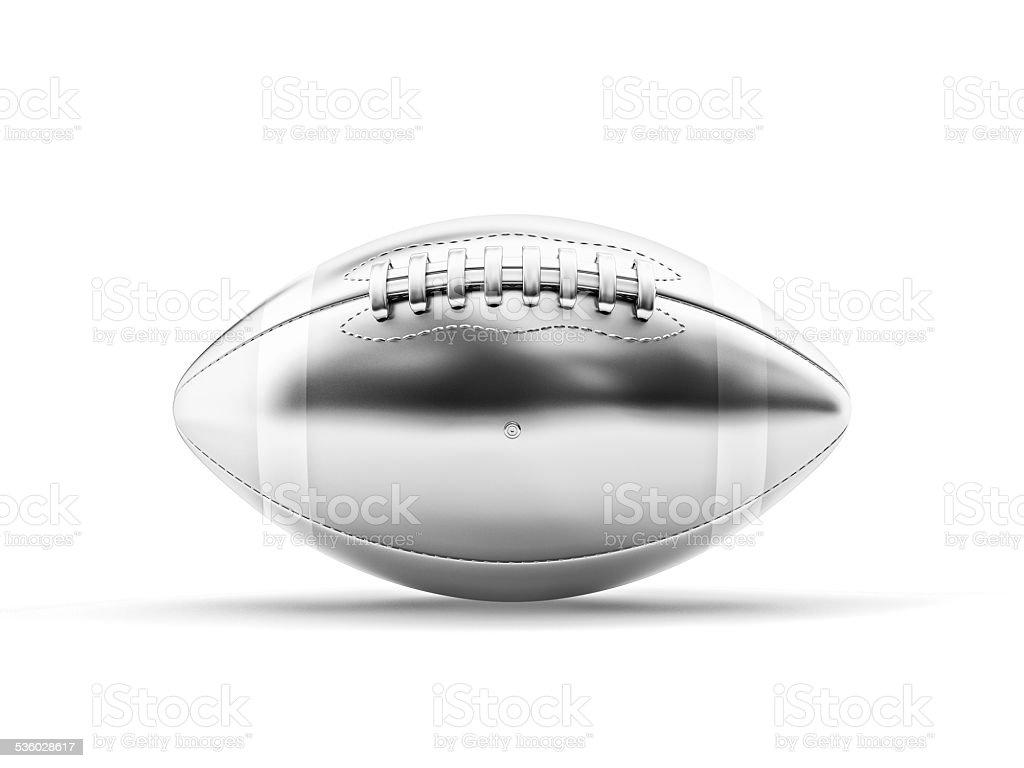 silver football ball stock photo