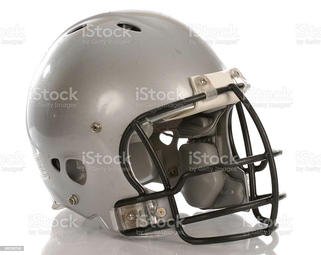 silver football helmet isolated royalty-free stock photo