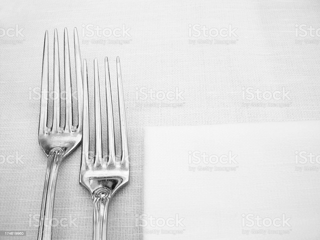 silver forks royalty-free stock photo