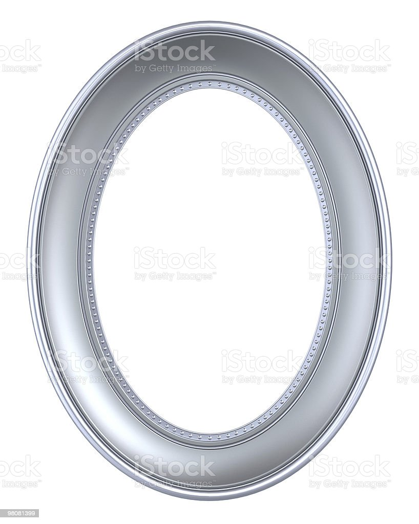 Cornice d'argento isolato su sfondo bianco foto stock royalty-free