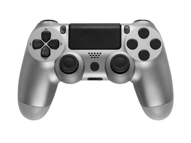 Silver gaming controller isolated on white background. Silver gaming controller isolated on white background. gamepad stock pictures, royalty-free photos & images