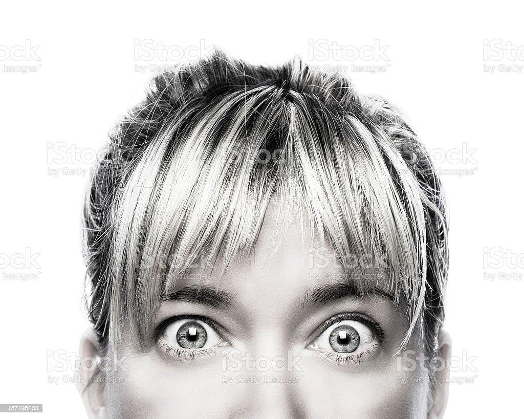 Silver gaze stock photo
