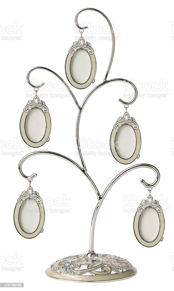 Silver genealogical family tree stock photo