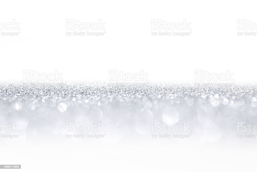 Silver glitter background stock photo