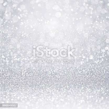 948081716 istock photo Silver Glitter Confetti Background for Anniversary or Shiny Christmas 866849552