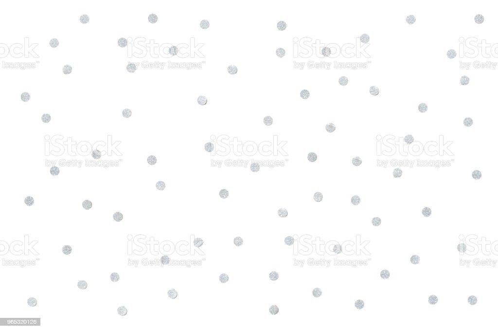 Silver glitter confetti paper cut background zbiór zdjęć royalty-free