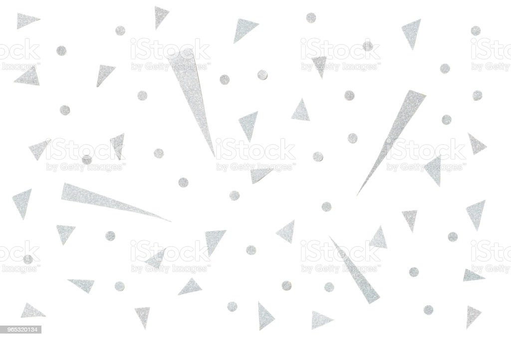 Silver glitter confetti paper cut background royalty-free stock photo