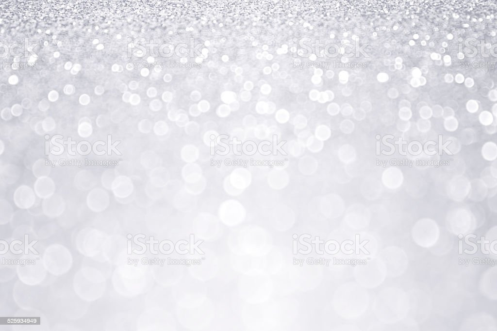 Silver Glitter Winter Christmas Background stock photo