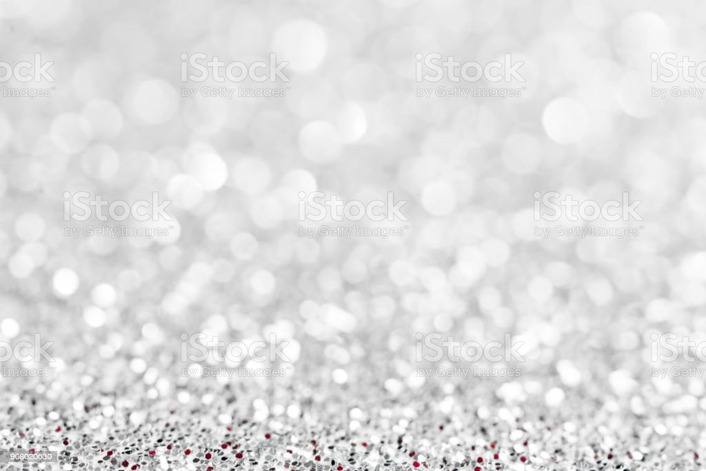 silver glittering background stock photo
