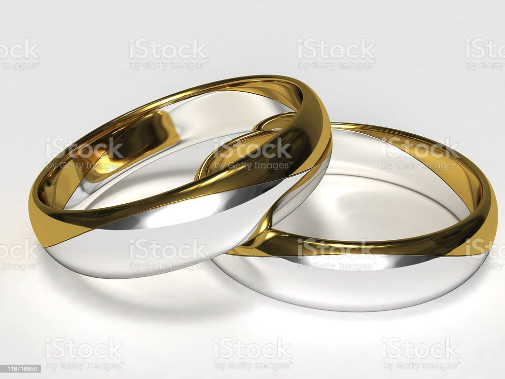 Silver Gold Rings royalty-free stock photo