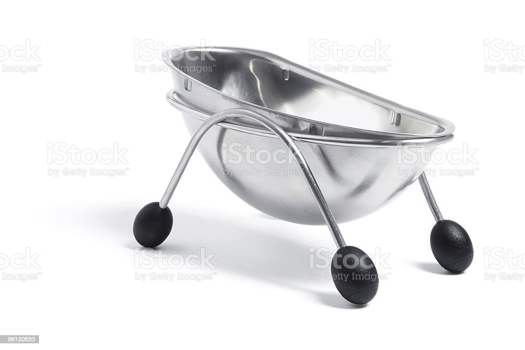 Silver Gravy Bowl royalty-free stock photo