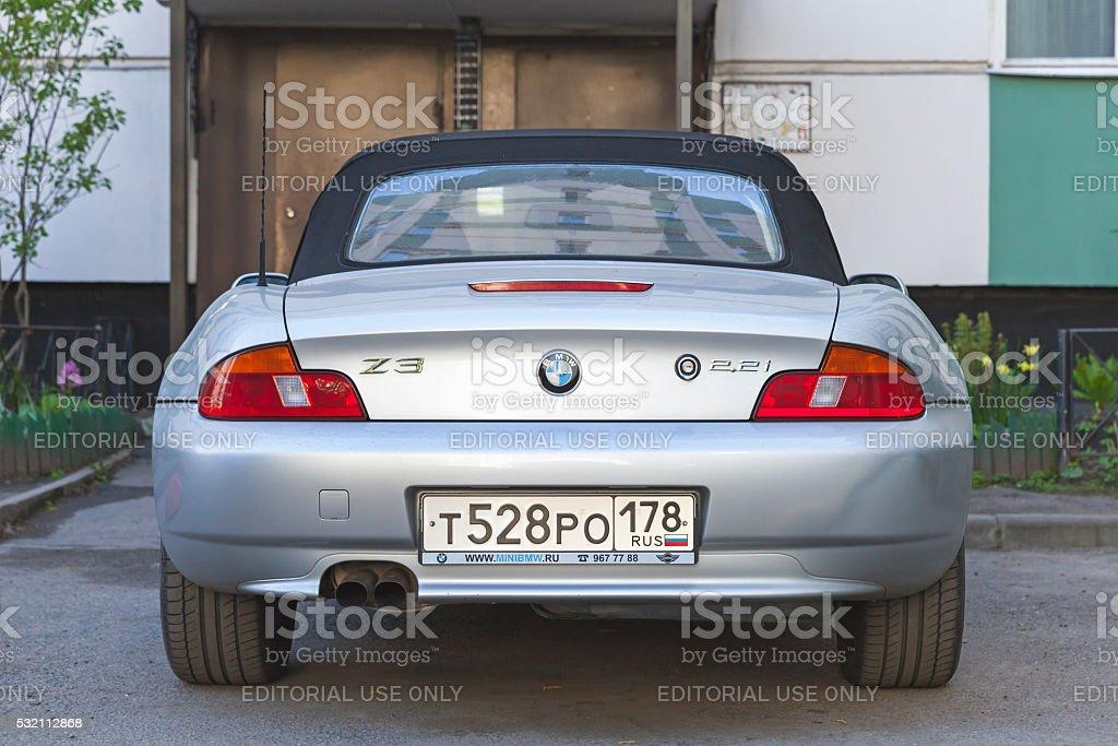 Silbergrau BMW Z3 Auto, Rückansicht – Foto