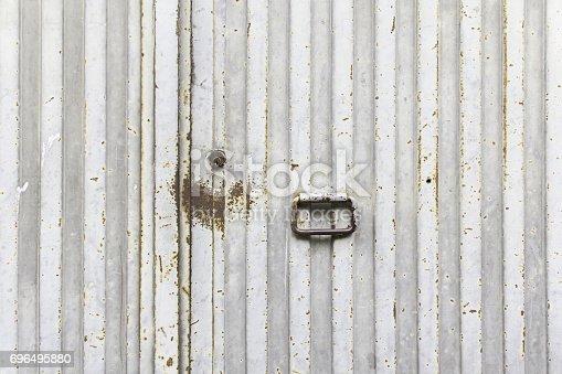 826150670istockphoto Silver gray door 696495880