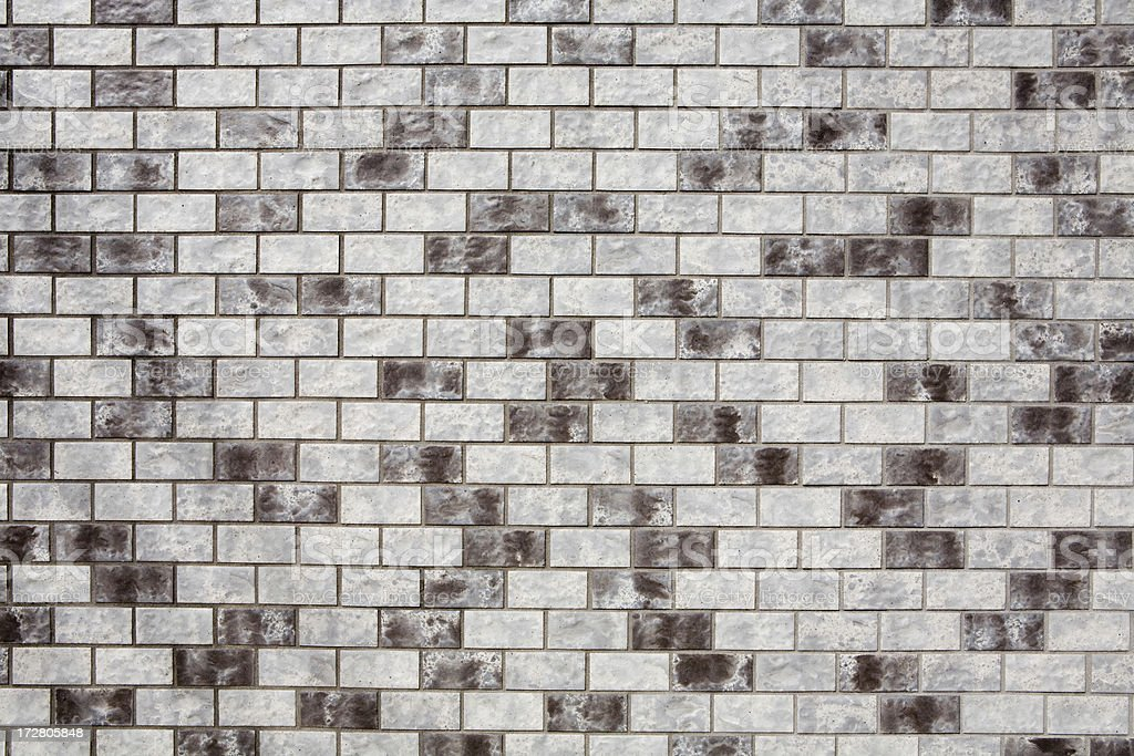 Grigio argento screziato piastrelle muro di mattoni background e