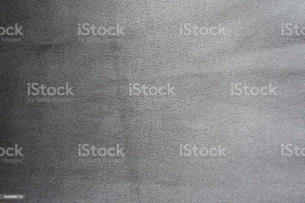 Silver grey artificial suede fabric surface from above stock photo