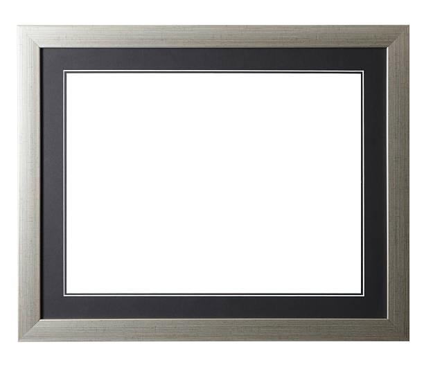 Silver Grunge Frame stock photo