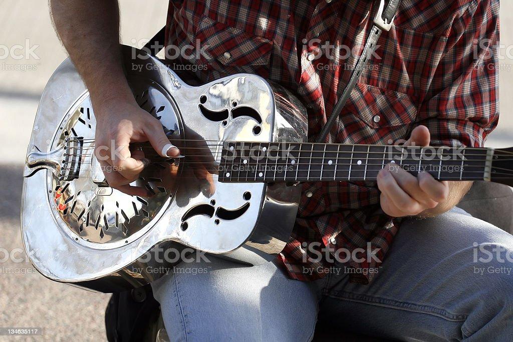 Silver Guitar stock photo