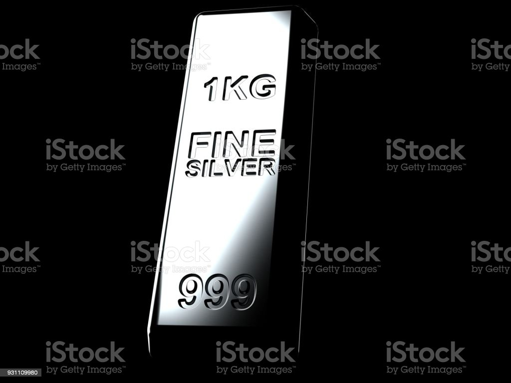 Gümüş külçe - Royalty-free Bankacılık Stok görsel