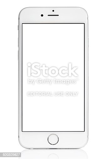 iphone blank screen silver iphone 6 isolated on white with blank screen stock 11653