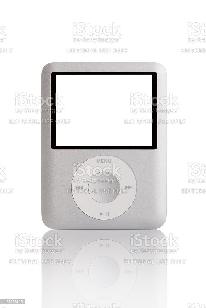 Silver iPod Nano 3th generation. stock photo