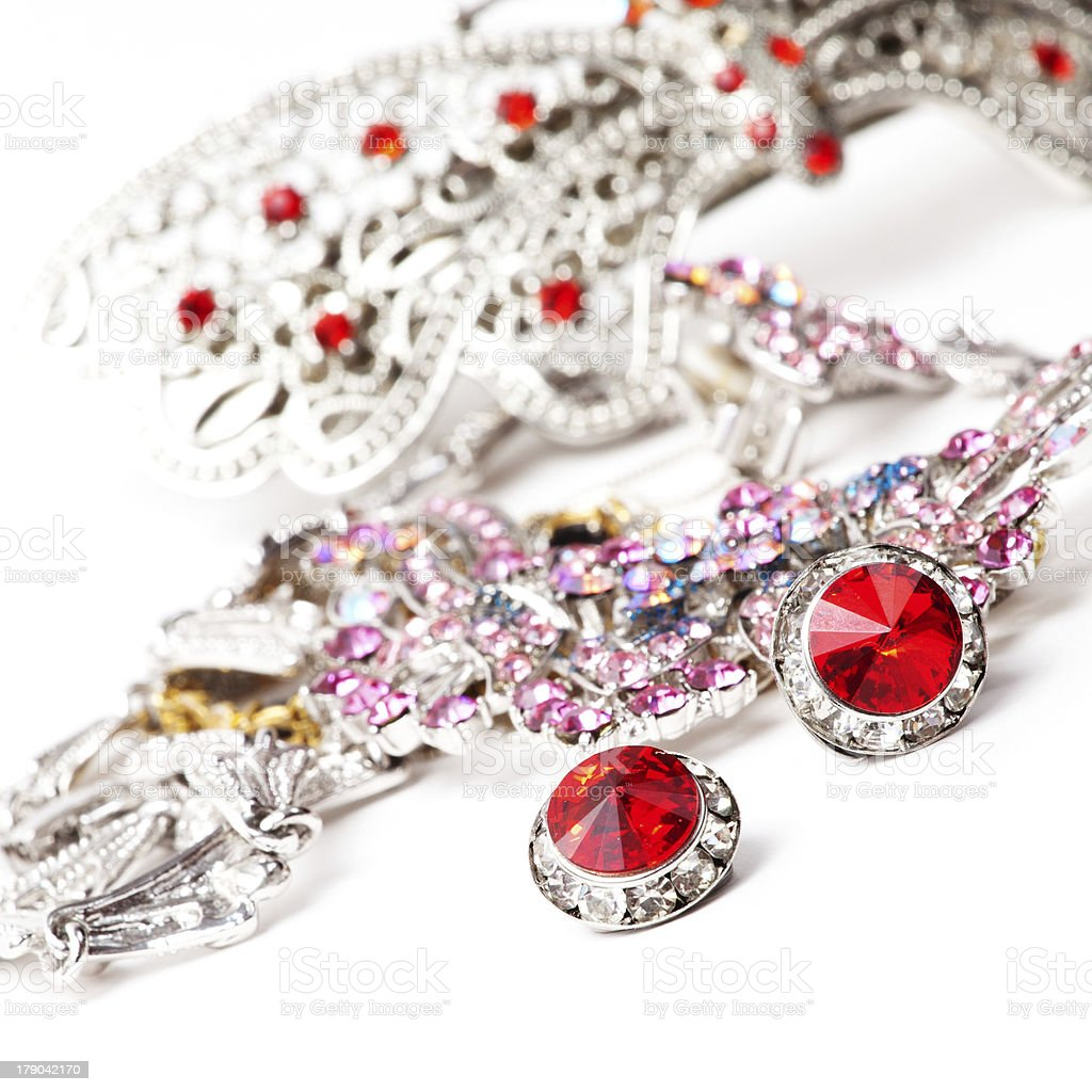 Silver jewellery royalty-free stock photo