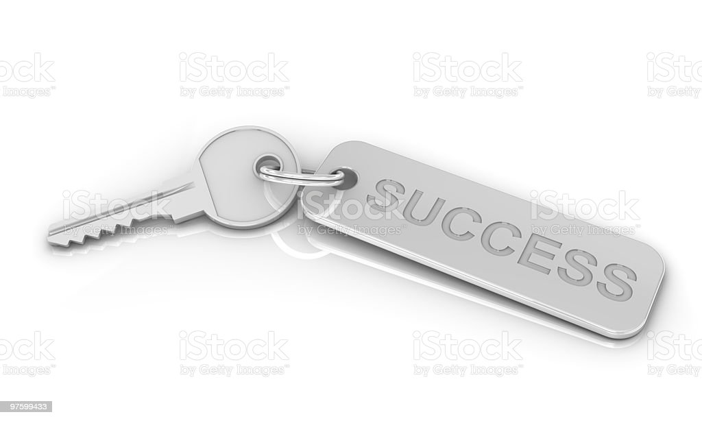 Silver Key to Success royalty-free stock photo