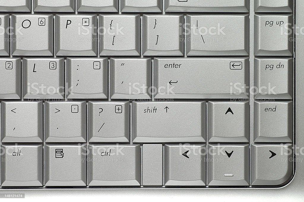 Silver keyboard royalty-free stock photo