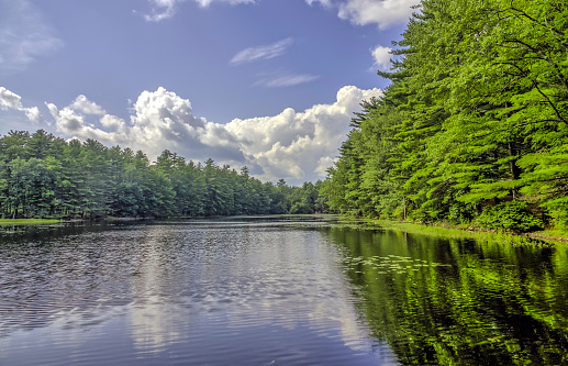 Silver Lake in Sullivan County  located in the U.S. state of New York