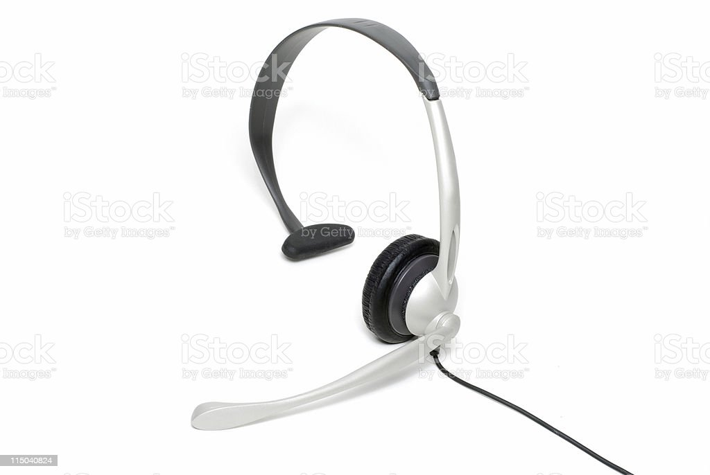 Silver Landline Telephone Phone Headset Isolated On White Stock Photo Download Image Now Istock