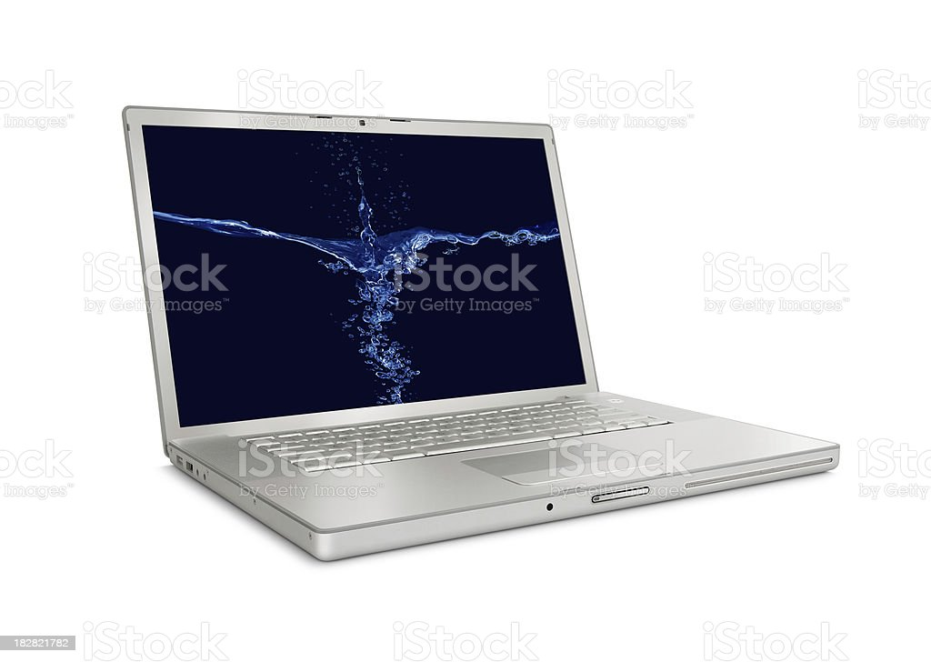 Silver Laptop royalty-free stock photo