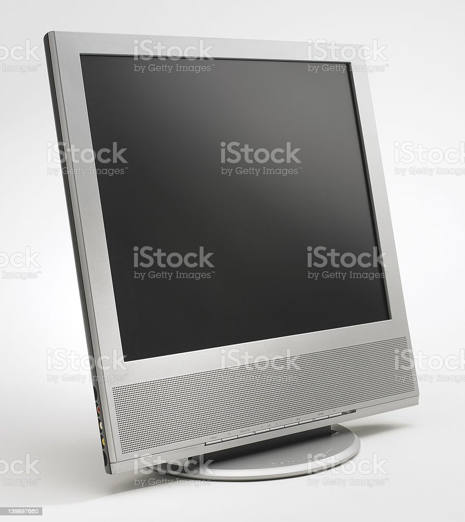 Silver LCD Screen royalty-free stock photo