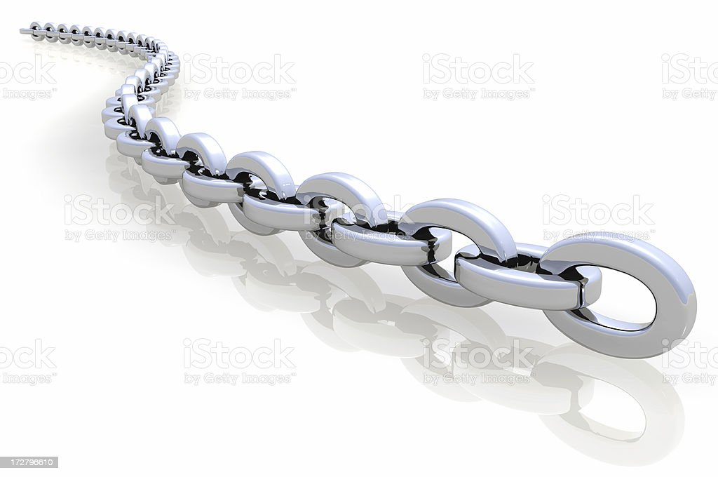 Silver link stock photo