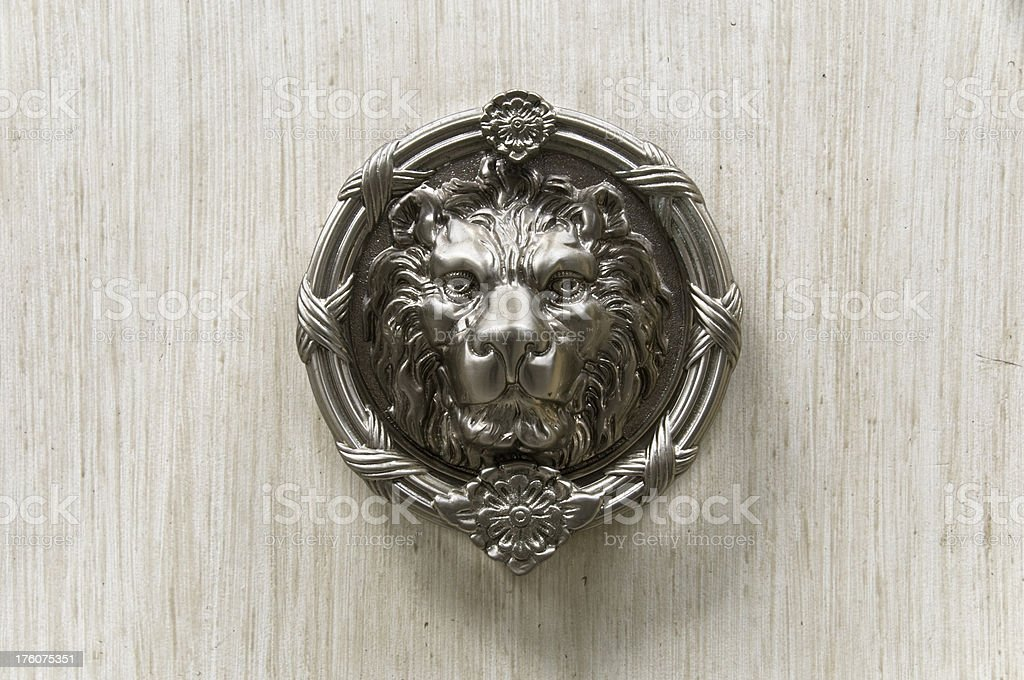 Silver Lion Head Door Knocker Stock Photo U0026 More Pictures Of ...
