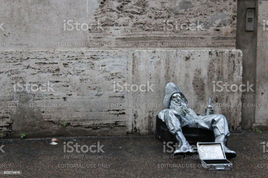 Silver Man stock photo