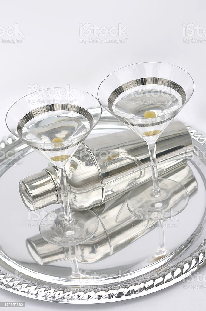 Silver Martini royalty-free stock photo