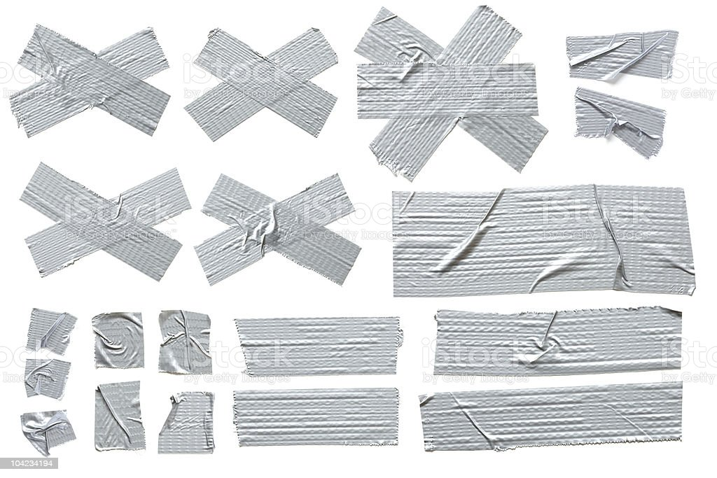 Silver Masking Tape stock photo