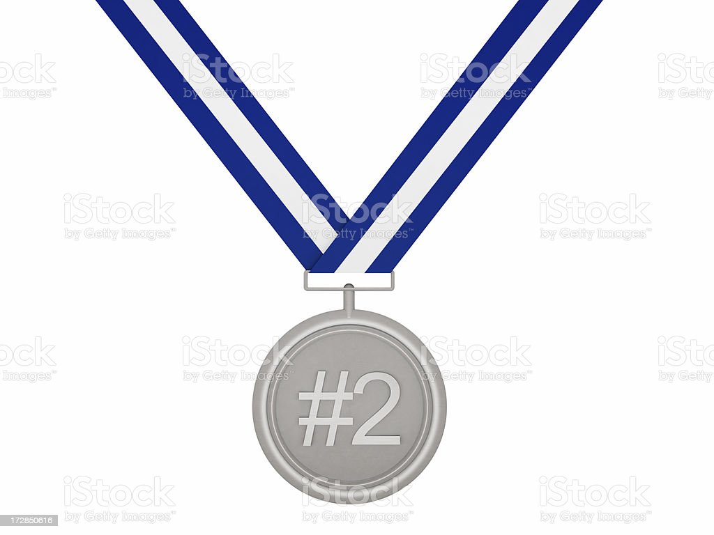 Silver Medal #2 royalty-free stock photo