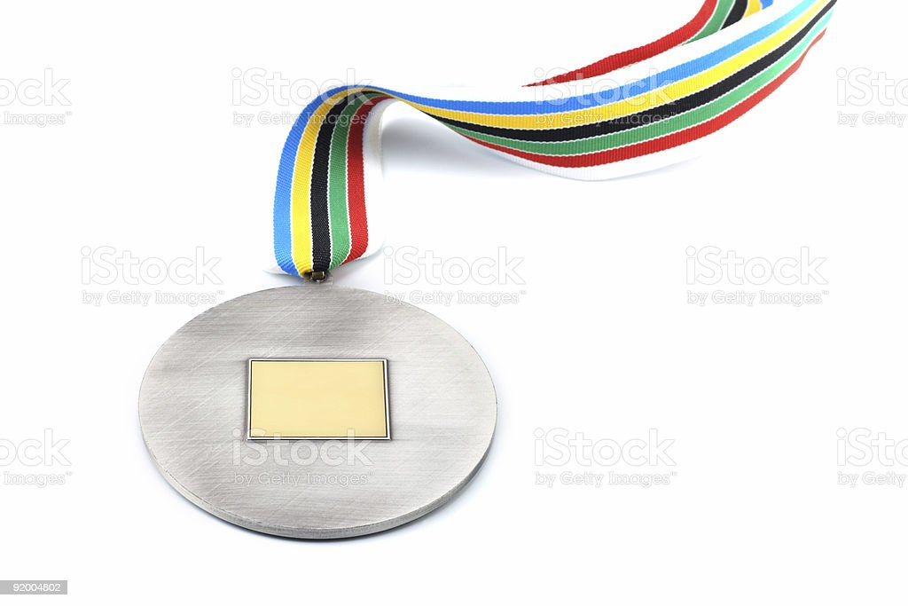 silver medal royalty-free stock photo
